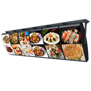 单面弧形点餐空白灯箱 40*40cm 高亮LED