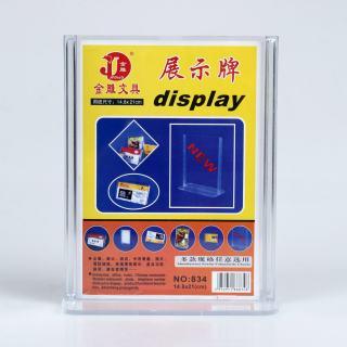 金雕 展台牌betway体育平台塑料必威体育苹果app下载 JD-834竖 透明色 14.8*21cm