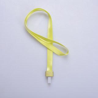 赛兄纳弟 金属工牌胸牌卡套挂绳铝合金工作牌挂套工作证带挂绳胸卡 1531-拇指扣荧光绿 15mm