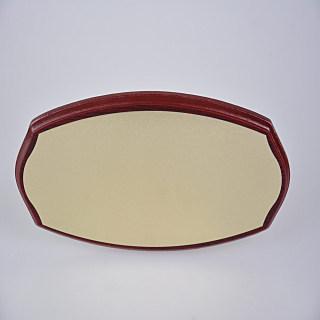 赛兄纳弟 大椭圆红木缺角 红色金拉丝246# 130*300mm
