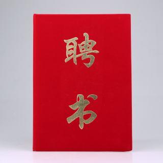 鑫亿 荣誉证书聘书 XY208   红色 17.5*24.5cm