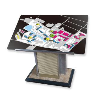 蜻蜓 展示架落地式总平面牌 楼层导示牌 A1型材  金属板 不锈钢  合成板 1200*750*1030mm