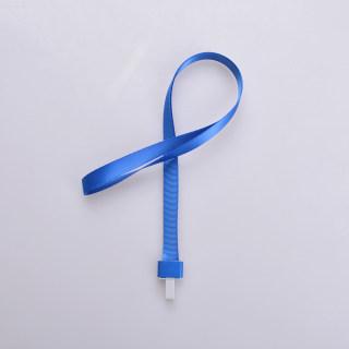 赛兄纳弟 金属工牌胸牌卡套挂绳铝合金工作牌挂套工作证带挂绳胸卡 1531-拇指扣蓝色 15mm