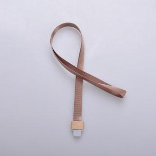 赛兄纳弟 金属工牌胸牌卡套挂绳铝合金工作牌挂套工作证带挂绳胸卡 1532-鸭舌扣咖啡色 15mm