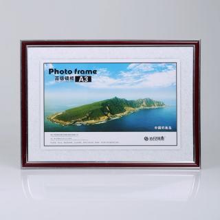 赛兄纳弟 镜框制度框营业执照框 XD-GFA3-1 朱红银边 420*297mm