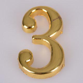 赛兄纳弟 金色字 金色3# 29*48.5mm