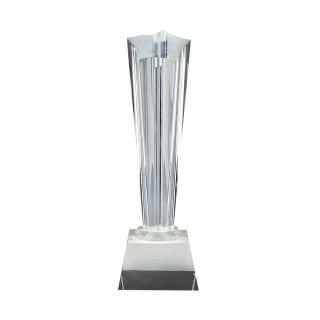 水晶奖杯打凹五角星