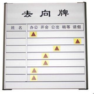 金雕 去向牌空白去向牌有字标识牌单位门牌标识牌 7人有字去向牌(36*35) 标 准