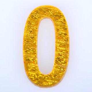 轩然 亚克力门牌数字 X155  金色0 25*40mm