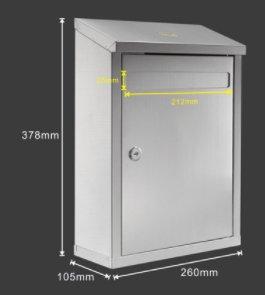 赛兄纳弟 意见箱 斜面不锈钢意见箱BG026 260*105*378mm
