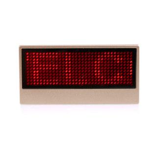 赛兄纳弟 LED标示牌胸牌胸卡形象卡 金色 38*77mm
