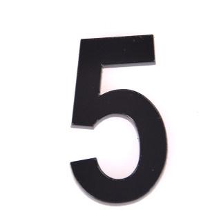 轩然 亚克力门牌数字 X156  黑色5 25*40mm