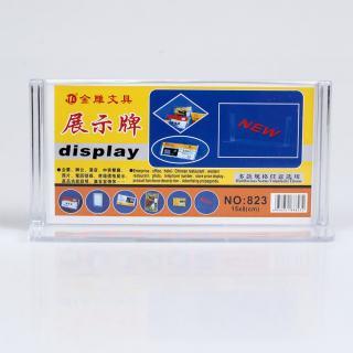 金雕 展台牌betway体育平台塑料必威体育苹果app下载 JD-823横    透明色 15*8cm
