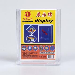 金雕 展台牌betway体育平台塑料必威体育苹果app下载 JD-830竖  透明色 7.4*10.5cm