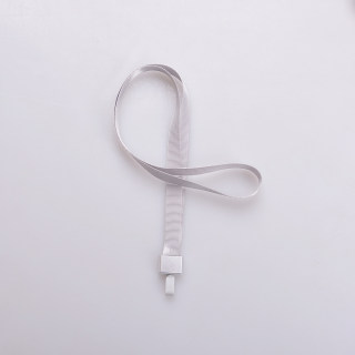 赛兄纳弟 金属工牌胸牌卡套挂绳铝合金工作牌挂套工作证带挂绳胸卡 1531-拇指扣银色 15mm