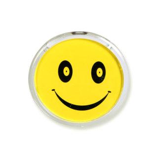 科记 形象卡(圆形)胸牌笑脸卡 T-058 透明色 55mm