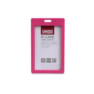 优和 证件卡工作证胸卡 6612 玫红 54*90mm