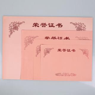 赛兄纳弟 荣誉证书内芯 粉红色 8开345*245mm