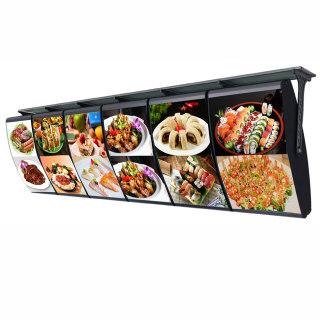 单面弧形点餐空白灯箱
