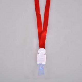 科记 直身扣 K-1299 红带白扣珠 1.2cm