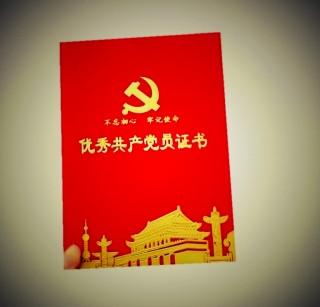 赛兄纳弟 建党节证书贺卡礼品 优秀共产党员证书3908绒布 8 开