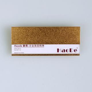 豪得 标示牌胸牌胸卡形象卡 ZK-7112  金色 70*30mm