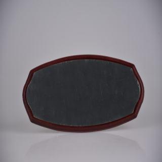 赛兄纳弟 大椭圆红木缺角 红色 银拉丝 247# 130*300mm