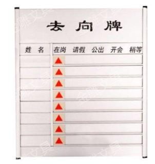金雕 去向牌空白去向牌有字标识牌单位门牌标识牌 8人有字去向牌(39*35) 标 准