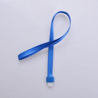 赛兄纳弟 金属工牌胸牌卡套挂绳铝合金工作牌挂套工作证带挂绳胸卡 1532-鸭舌扣蓝色 15mm