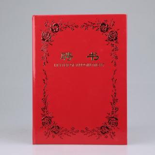 鑫亿 荣誉证书聘书 6808 红色 17.5*24.5cm