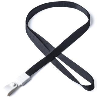 瑞普 软胶扣涤纶挂绳 7723 黑色 10mm