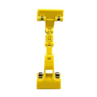 雅量 机械手广告夹摇摇夹 JH31 黄色 5.5*18cm