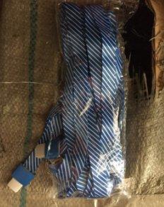 赛兄纳弟 挂绳 铝合金挂绳1532-鸭舌扣蓝色条纹 15mm
