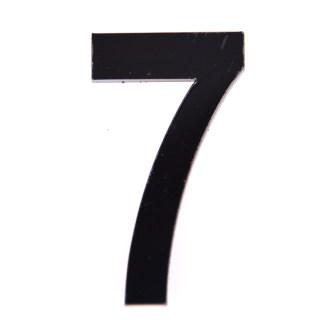 轩然 亚克力门牌数字 X156  黑色7 25*40mm